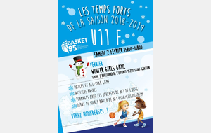 Les U11 F1 participent aux  Winter Girls Game
